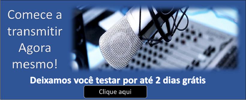 Crie uma web rádio grátis por 2 dias